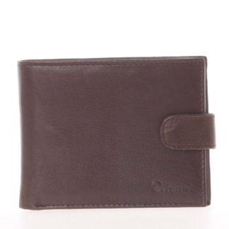 Pánská kožená tmavě hnědá peněženka - Delami 8945 hnědá