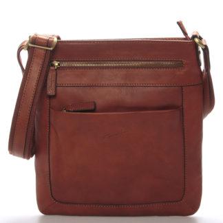 Pánska kožená taška přes rameno hnědá - Gerard Henon Curt hnědá