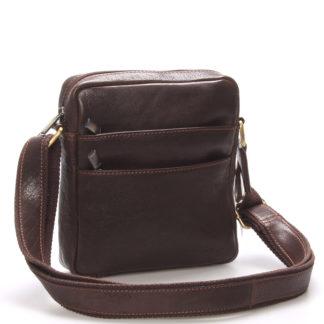 Módní pánská kožená taška na doklady přes rameno hnědá - SendiDesign Lamar hnědá