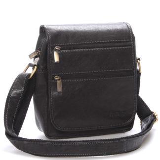 Elegantní pánská kožená taška přes rameno černá - SendiDesign Garnell černá