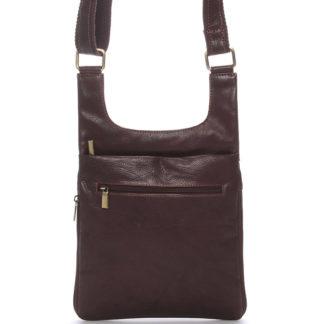 Moderní pánská kožená taška přes rameno hnědá - SendiDesign Leverett hnědá