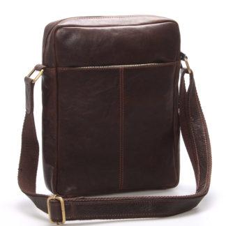 Elegantní pánská kožená taška přes rameno hnědá - SendiDesign Turner hnědá