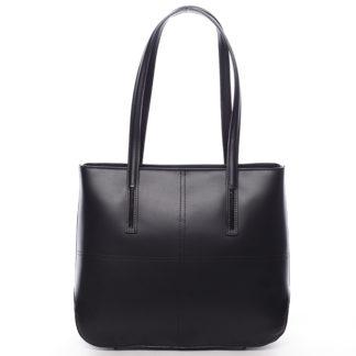 Moderní dámská kožená kabelka černá - ItalY Adalicia černá