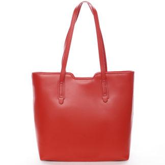 Elegantní dámská kožená kabelka červená - ItalY Aimee červená