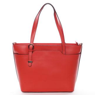 Trendy dámská kožená kabelka červená - ItalY Damiane červená