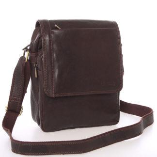 Módní pánská kožená taška přes rameno hnědá - SendiDesign Sage hnědá