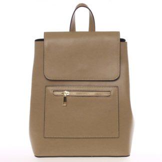 Dámský městský batoh kožený taupe - ItalY Bernadea Taupe