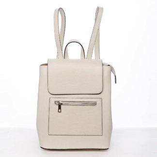 Dámský městský batoh kožený světle béžový - ItalY Bernadea béžová