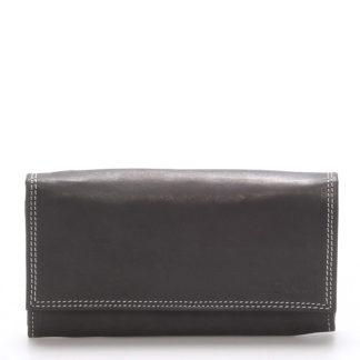 Dámská kožená peněženka černá - Delami Guara černá