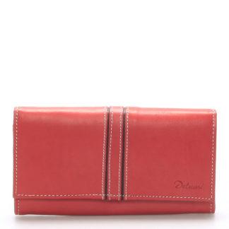 Dámská kožená peněženka červená - Delami Lestiel červená