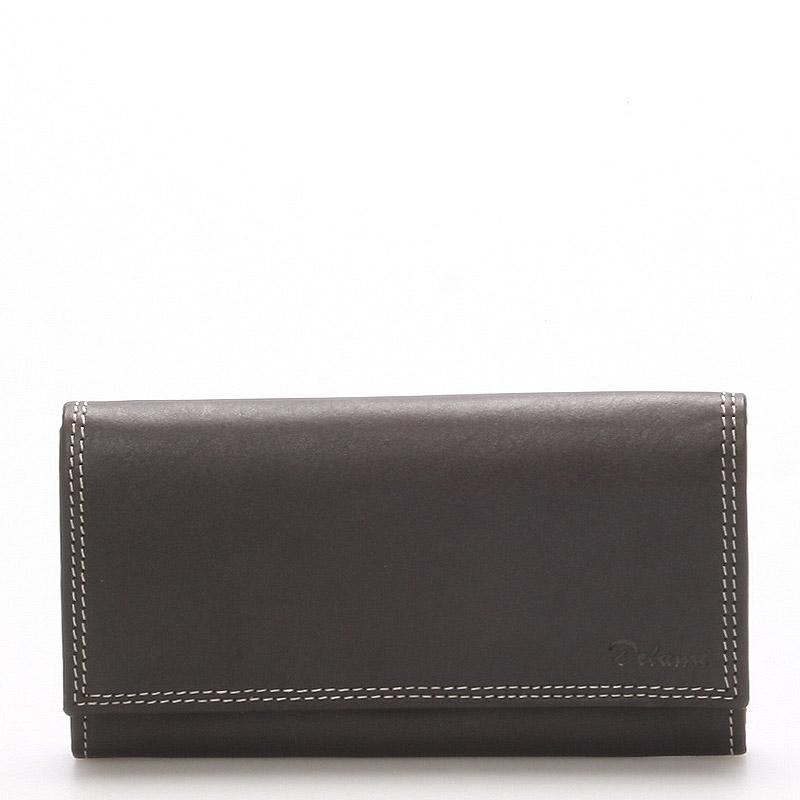 Dámská kožená peněženka černá - Delami Naal černá