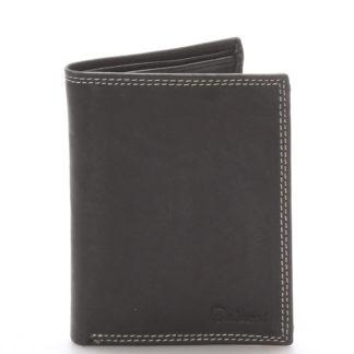 Pánská kožená peněženka černá - Delami Matt černá