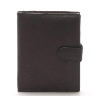 Pánská kožená černá peněženka - Delami 8703 černá