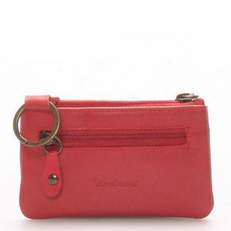 Malá kožená klíčenka červená - Delami 9946 červená