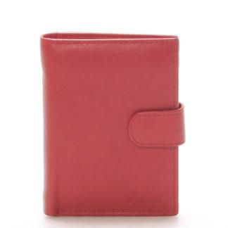 Pánská kožená červená peněženka - Delami 8703 červená