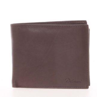 Pánská kožená peněženka hnědá - Delami Five hnědá