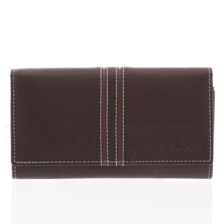 Dámská kožená peněženka hnědá - Delami Lestiel hnědá