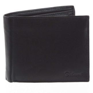 Pánská kožená peněženka černá - Delami Five černá