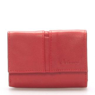 Kožená červená peněženka - Delami 9386 červená