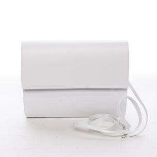Střední dámské elegantní psaníčko bílé lesklé - Delami SanDiego bílá
