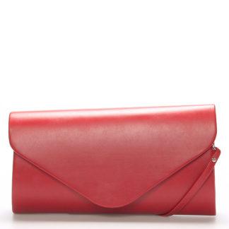 Luxusní velké dámské psaníčko červené matné - Delami LasVegas červená
