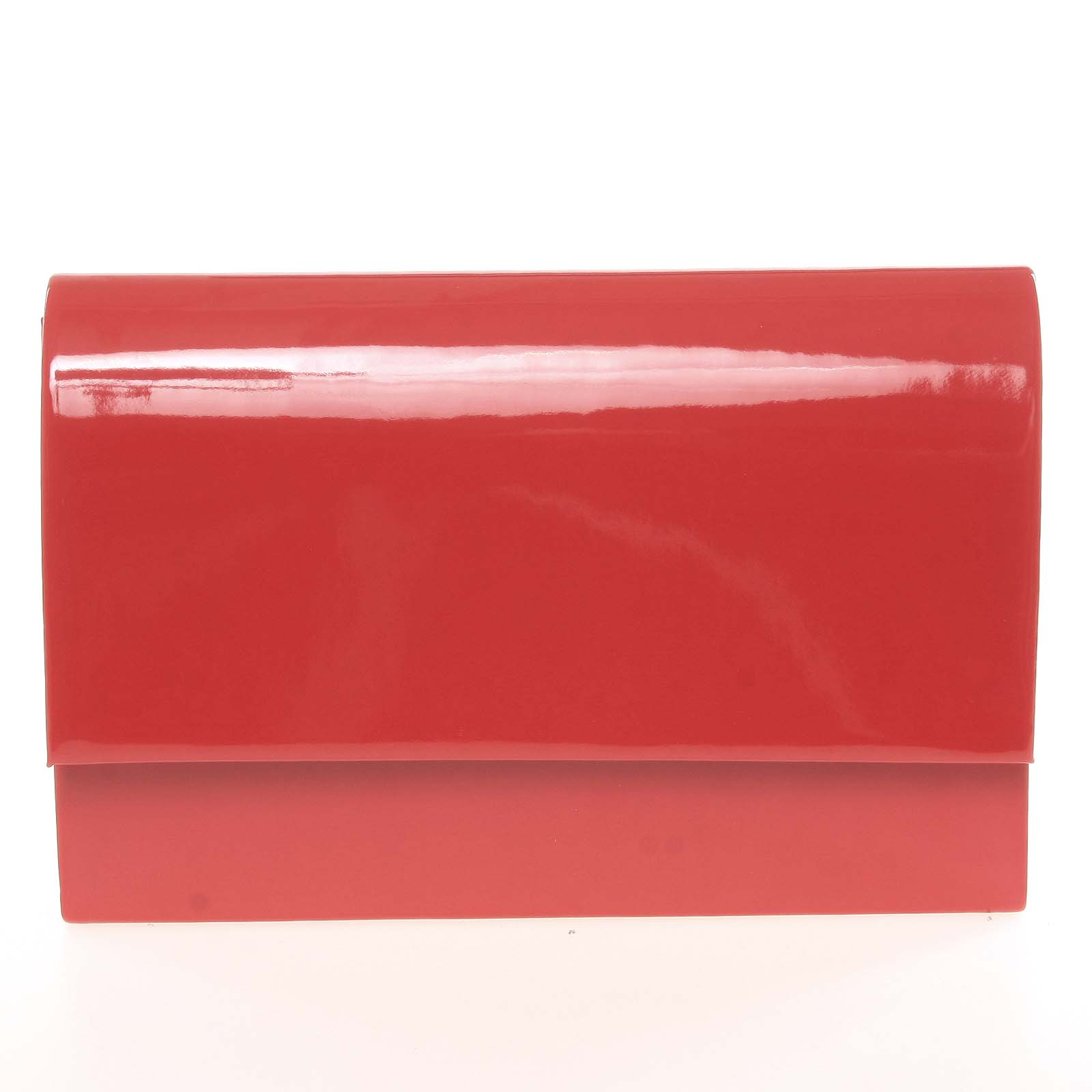 Stylové dámské psaníčko červené lesklé - Delami Boston červená