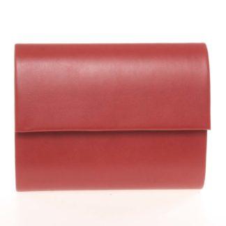 Střední dámské elegantní psaníčko červené matné - Delami SanDiego červená