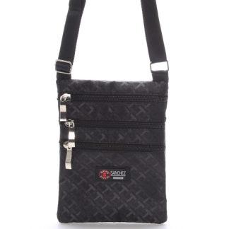 Textilní černá unisex crossbody kapsička - Sanchez F86 černá