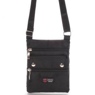 Textilní černá unisex crossbody kapsička - Sanchez F84 černá