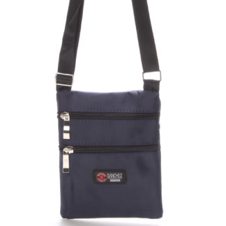 Textilní tmavě modrá unisex crossbody kapsička - Sanchez F85 modrá
