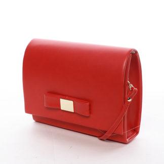 Luxusní dámské psaníčko červené matné - Delami Chicago Fresno červená