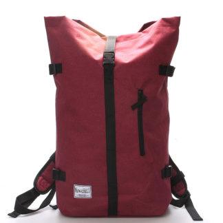 Jedinečný velký stylový unisex batoh červený- New Rebels Rebback červená