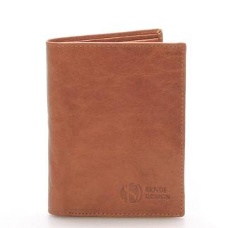 Kvalitní kožená světle hnědá peněženka - Sendi Design 45 hnědá