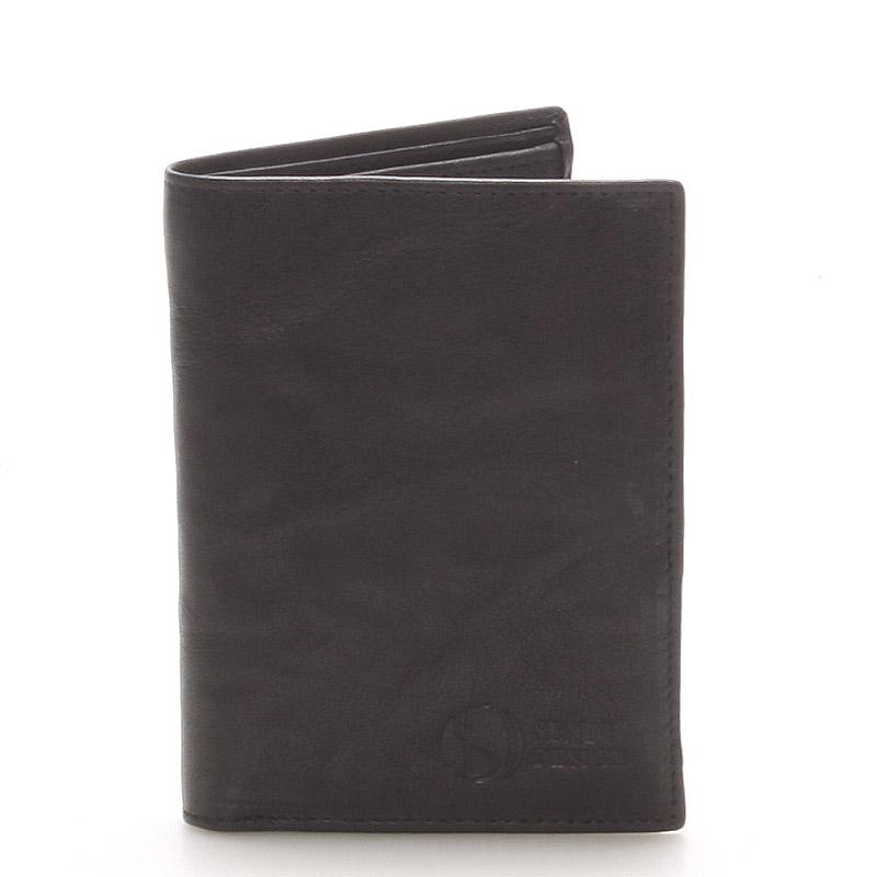 Kvalitní kožená černá peněženka - Sendi Design 45 černá