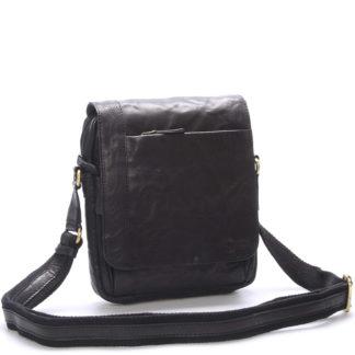 Kvalitní černá pánská kožená brašna - Sendi Design Appart černá