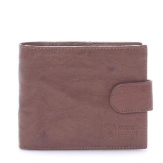 Praktická kožená hnědá peněženka - Sendi Design 47 hnědá