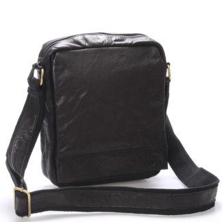 Luxusní velká kožená crossbody taška černá - Sendi Design Diverze černá
