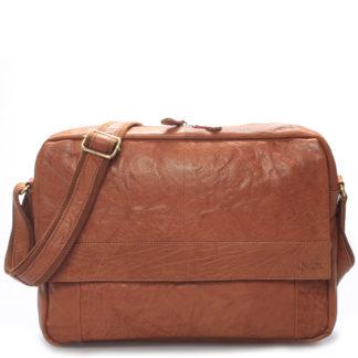 Velká luxusní pánská kožená taška světle hnědá - Sendi Design Nethard hnědá