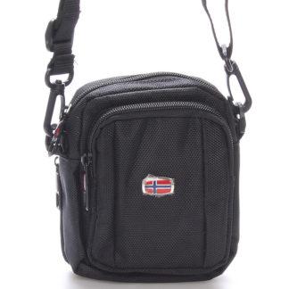 Malá dokladová unisex černá taška na opasek - New Rebels Ross černá
