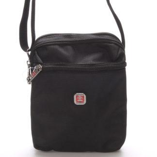 Menší unisex černá crossbody taška - Enrico Benetti 7140 černá