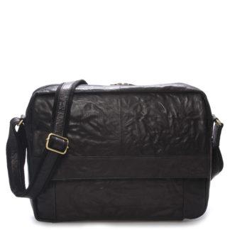 Velká luxusní pánská kožená taška černá - Sendi Design Nethard černá