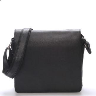 Luxusní kožená pánská černá taška Frozen černá