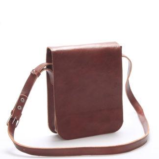 Hnědá luxusní kožená taška přes rameno Kabea ViLuxor hnědá