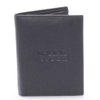Pánská kožená peněženka černá - WILD Bartholomaios černá