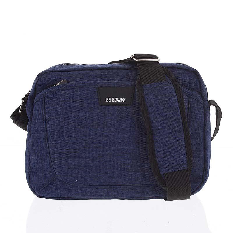 Modrá crossbody taška na doklady - Enrico Benetti Accalia modrá