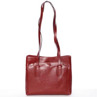 Červená kožená kabelka přes rameno - ItalY Yura červená