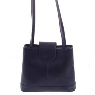 Kožená dámská tmavě modrá kabelka přes rameno - ItalY Zenna modrá