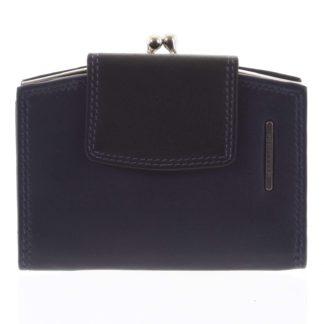 Luxusní dámská kožená peněženka modro černá - Bellugio Armi modrá