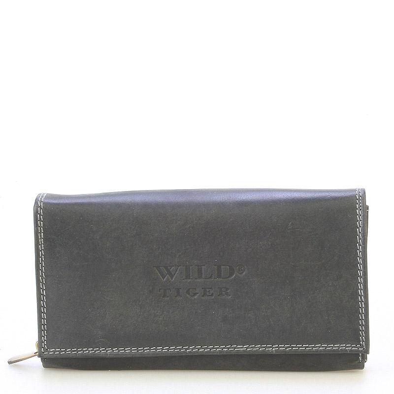 Dámská kožená peněženka černá - WILD Haemon černá