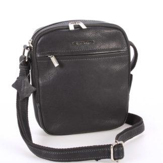 Černá pánská stylová kožená taška - Sendi Design Heracles černá